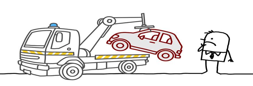 véhicule mis en fourrière